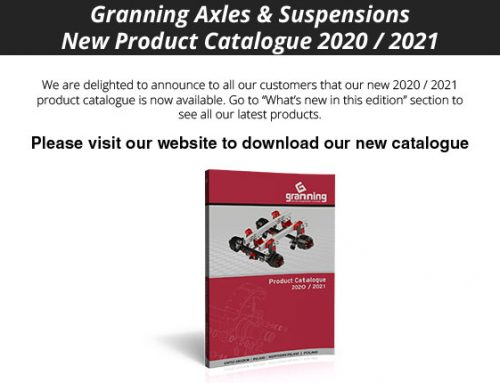 Granning Axles & Suspensions New product catalogue 2020 / 2021